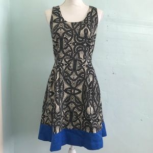 The limited size 8 pattern dress full skirt